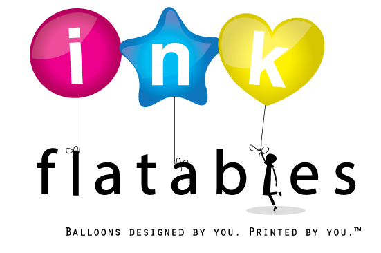 photo about Printable Balloons referred to as InkFlatables inkjet printable balloons Balloons created